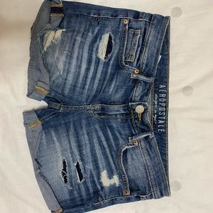 Aeropostale Ripped Denim Shorts